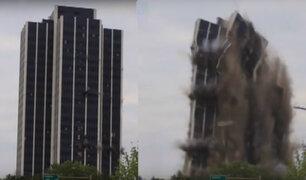 EEUU: espectacular demolición de un edificio en Pensilvania