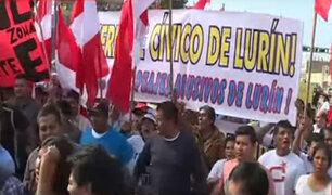 En protesta: pobladores de Lurín y Puente Piedra piden nulidad de peajes