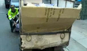 San Isidro: recicladores son detenidos por intentar robar scooters eléctricos