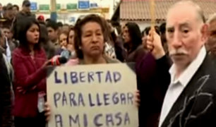 VES: vecinos protestan por pago de peaje tras cierre de vía
