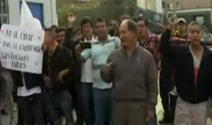 """La Molina: comerciantes protestan tras cierre de negocios en zona """"El cañon"""""""