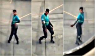 Mira el peculiar baile de un trabajador en un aeropuerto