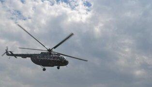 Difunden imágenes de la caída del helicóptero del Ejército en Amazonas