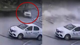 Turquía: muro de contención sepultó automóvil