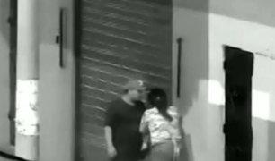 Piura: hombre agrede salvajemente a su pareja fuera de discoteca