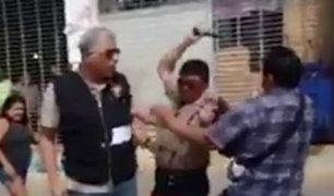 Piura: ambulante y municipal se pelean en operativo
