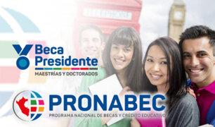 Pronabec: sepa cómo postular a becas integrales para las mejores universidades del mundo