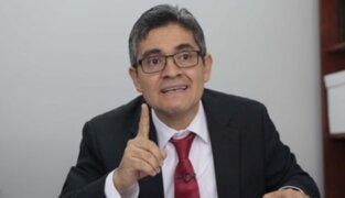 Fiscal Domingo Pérez se mostró a favor de la cuestión de confianza