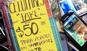 México: recurren a celulares falsos para entregarlos durante asaltos