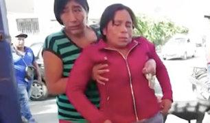 Chiclayo: delincuentes arrojan gasolina en rostro de mujer para robarle