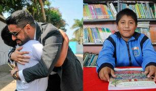 Árabe regala 2 mil dólares a niño que estudiaba bajo un poste de luz