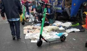 Venden scooters robados de Green en La Cachina