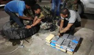 Cusco: encuentran 60 kilos de droga escondidos en una llanta de camión