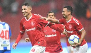 Paolo Guerrero anotó doblete en triunfo de Internacional por 3-1 ante Paysandú