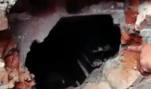 Ate: delincuentes hacen forado para robar en ferretería
