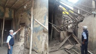 Casona resulta afectada tras sismo de magnitud 4.7 en Trujillo
