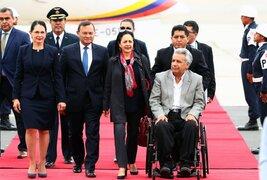 Mandatario de Ecuador llegó a Lima para Cumbre Presidencial Andina
