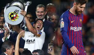 Barcelona cae por 2-1 ante el Valencia por la Copa del Rey