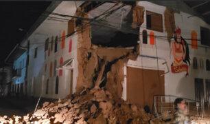 COEN: últimas cifras sitúan en 226 las familias damnificadas por el terremoto