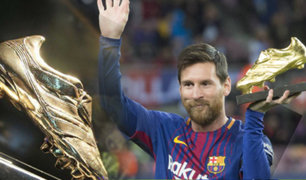 "Leo Messi obtiene su sexta ""Bota de Oro"" como máximo goleador de las ligas europeas"