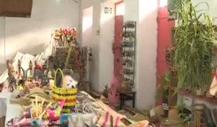 Tienda de artesanías quedó destruida por terremoto