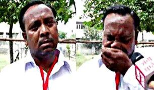 El insólito motivo por el que un candidato político rompe en llanto durante entrevista