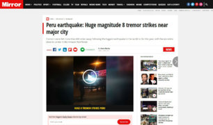 Terremoto en Loreto: cadenas de Europa y EEUU también dieron la noticia
