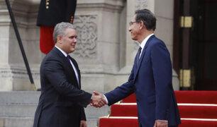 Martín Vizcarra se reúne con el presidente colombiano Iván Duque