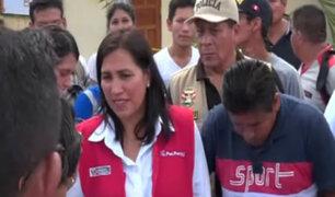 Ministra de Educación visitó zona afectada por sismo