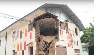 Yurimaguas: colegios y casonas fueron seriamente afectados por terremoto