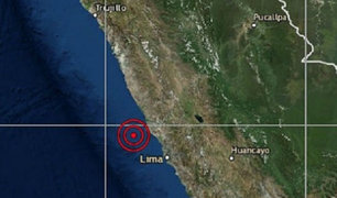 Se registró sismo de 3.7 grados en Huacho