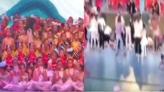China: un muerto y 14 heridos tras colapso de escenario