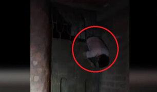 Junín: hombre queda colgando de reja al intentar ingresar a su casa