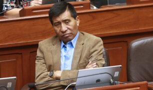Comisión admite a trámite pedido de levantamiento de inmunidad de Mamani