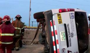 Miraflores: aparatoso accidente de tránsito provoca caos vehicular en la Costa Verde