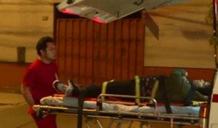 Breña: mujer resultó herida tras despistarse moto en que viajaba