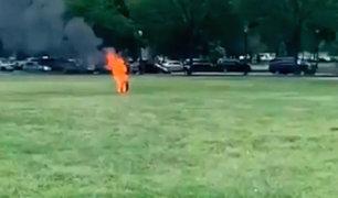 EEUU: hombre se prende fuego cerca a la Casa Blanca