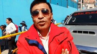 Mamani es captado realizando trámites en Tacna en plena semana de representación