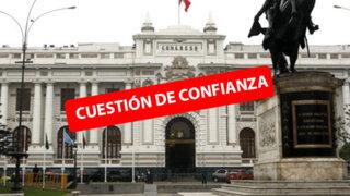 Reacciones en el Parlamento tras anuncio de cuestión de confianza