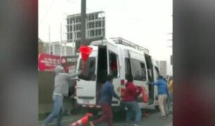 Continúan agresiones contra fiscalizadores de Sutran