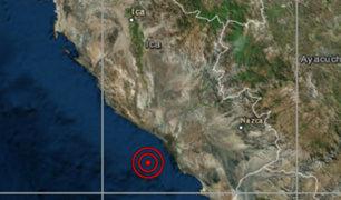 Dos movimientos sísmicos remecieron la región Ica