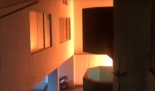 Chorrillos: pánico por incendio y explosiones en depósito de condominio