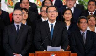 """""""El rumbo trazado continúa"""", afirma Vizcarra sobre aprobación de cuestión de confianza"""