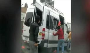 Detienen a sujetos que agredieron a inspectores de Sutran en Los Olivos