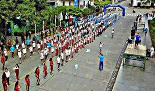 Cusco: estudiantes participaron en maratón en rechazo al consumo de drogas