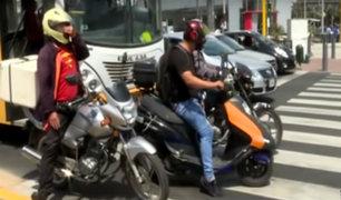 Lima: incrementan robos perpetrados por ladrones en moto