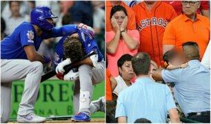 Niña fue hospitalizada tras ser impactada por una pelota en partido de béisbol