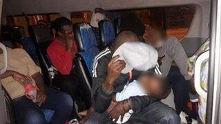 Intervienen combi que trasladaba haitianos ilegales en Puerto Maldonado