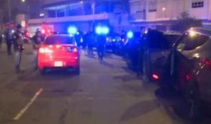 Operativo en Miraflores por asaltos con autos de alta gama