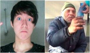 'Youtuber' que humilló a mendigo no podrá usar red social en 5 años